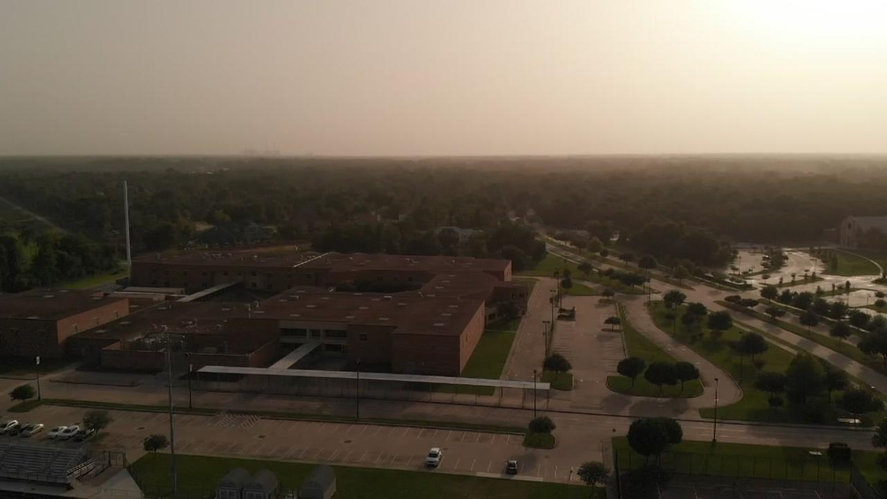 Drone footage of African dust storm