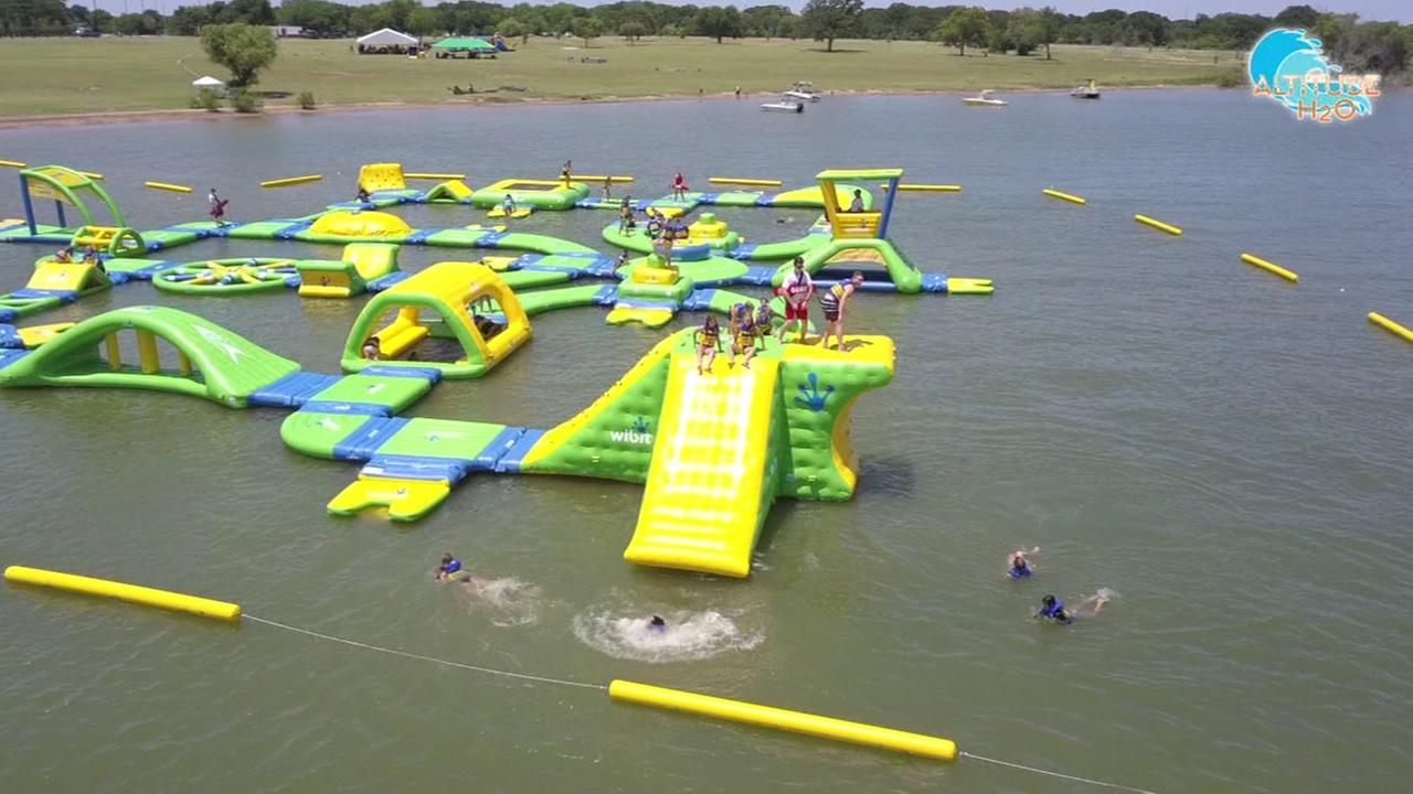 GRAB YOUR SWIMSUIT! Floating waterpark now open in Rosharon