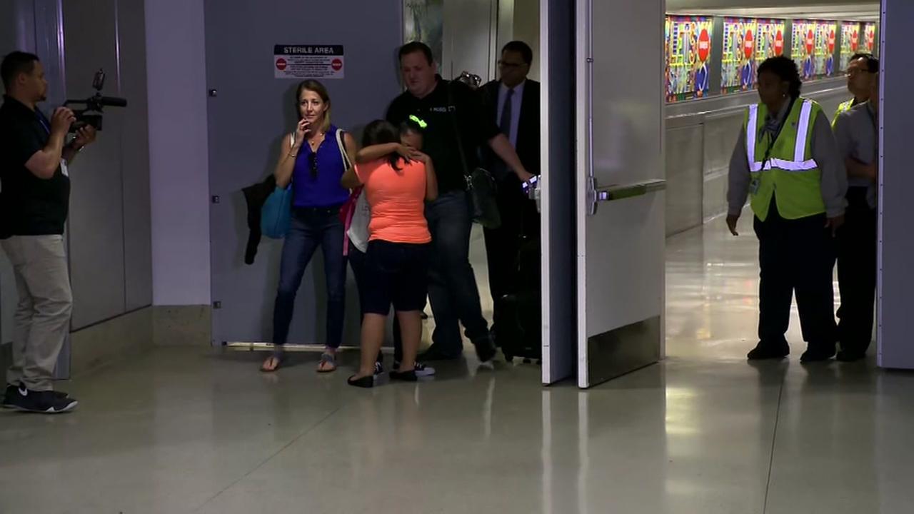 Mother, daughter separated at border reunited at LAX
