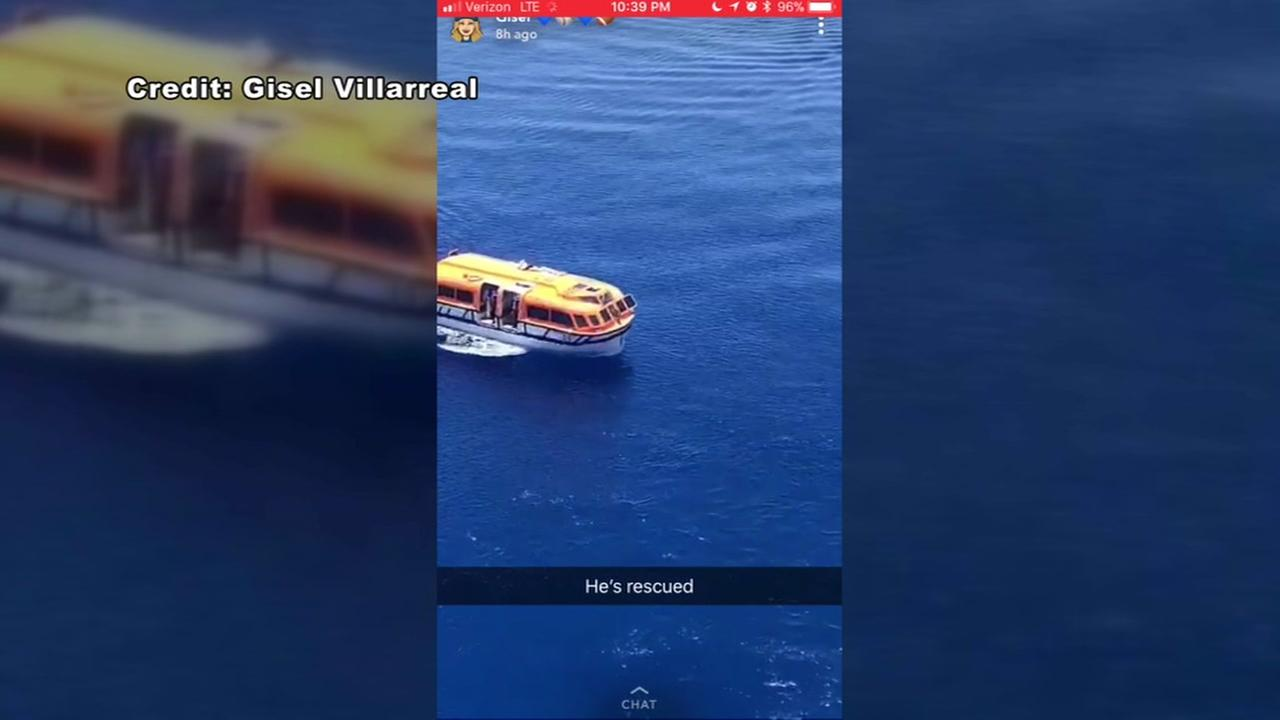 Cruise ship crew member rescued