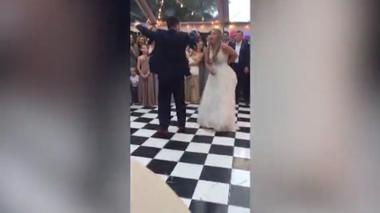Couples first dance wows wedding guests
