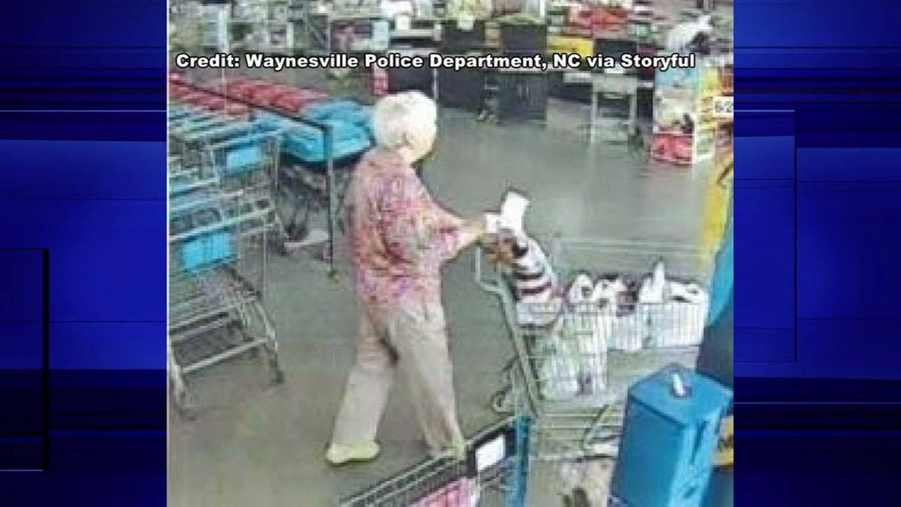 Granny thief steals wallet