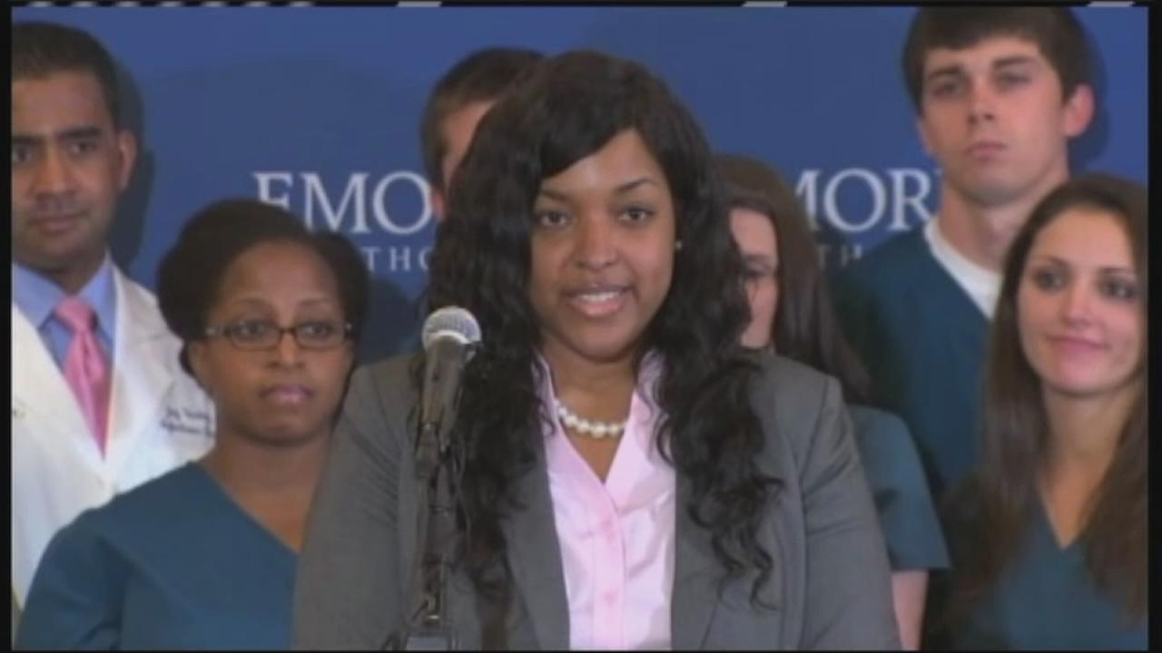 Amber Vinson speaks after release from hospital