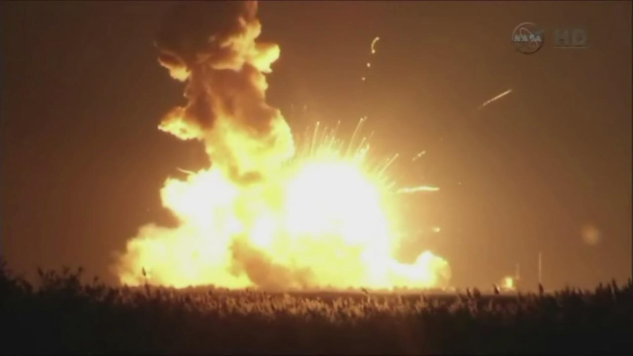 Antares rocket explodes shortly after liftoff