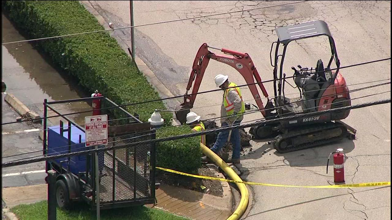 River Oaks Shopping Center gas leak
