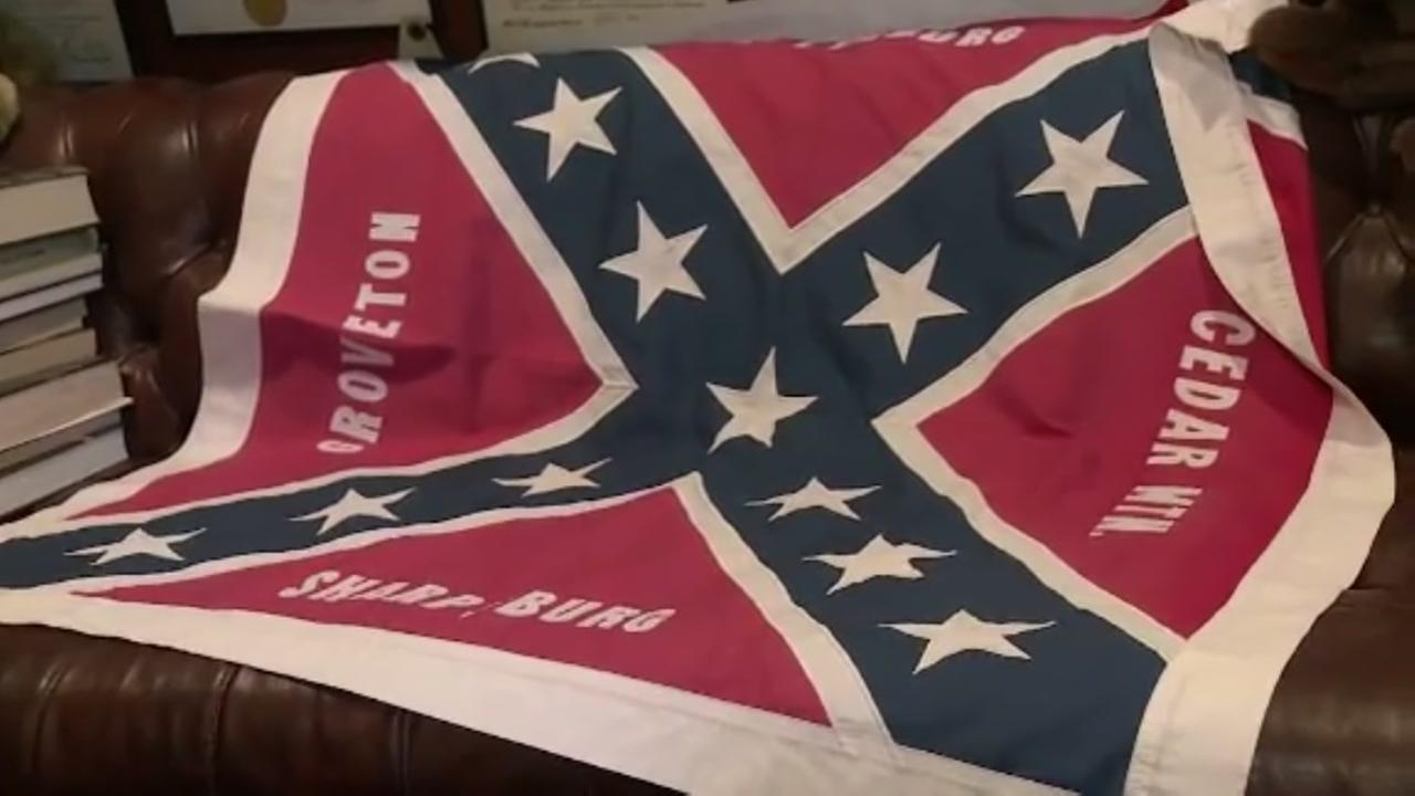 Man defends flying Confederate flag in his backyard as a reminder of U.S. history