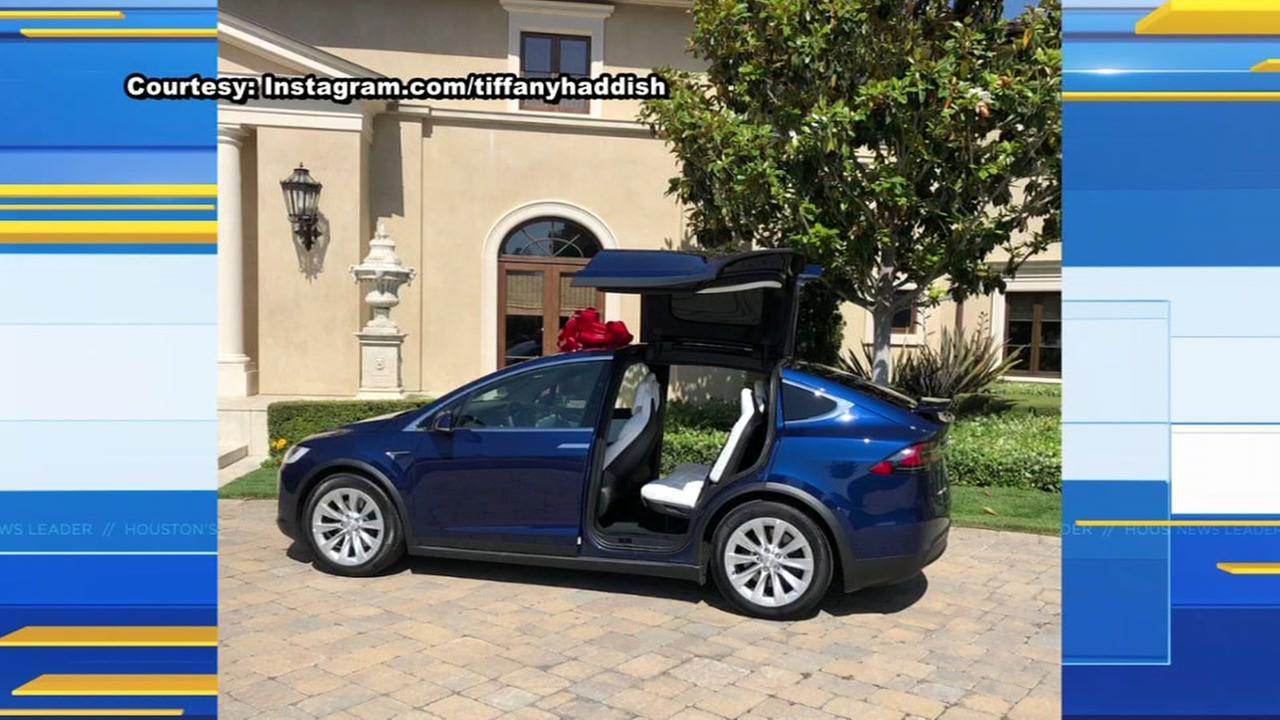 Tyler Perry gifts Tiffany Haddish a brand new Tesla