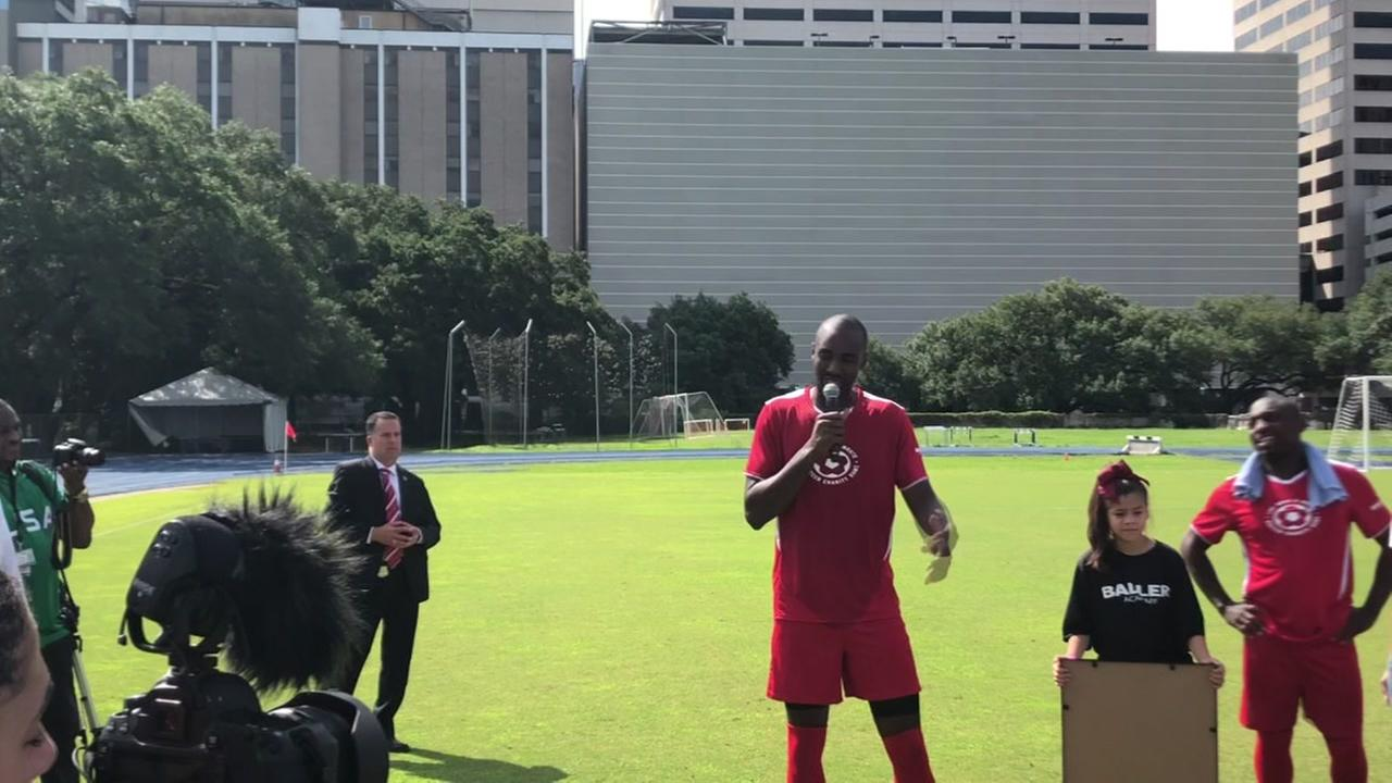 Luc Mbah a Moute hosts charity soccer game at Rice University