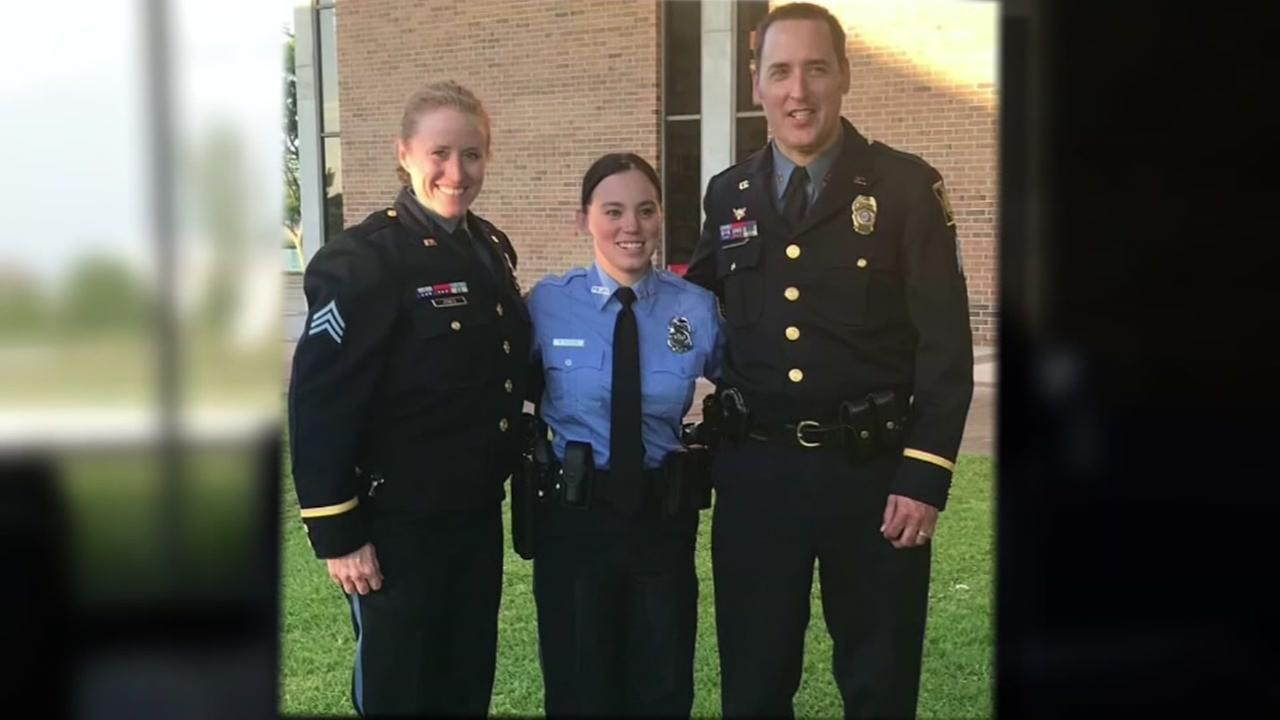 Rescued girl becomes Galveston officer