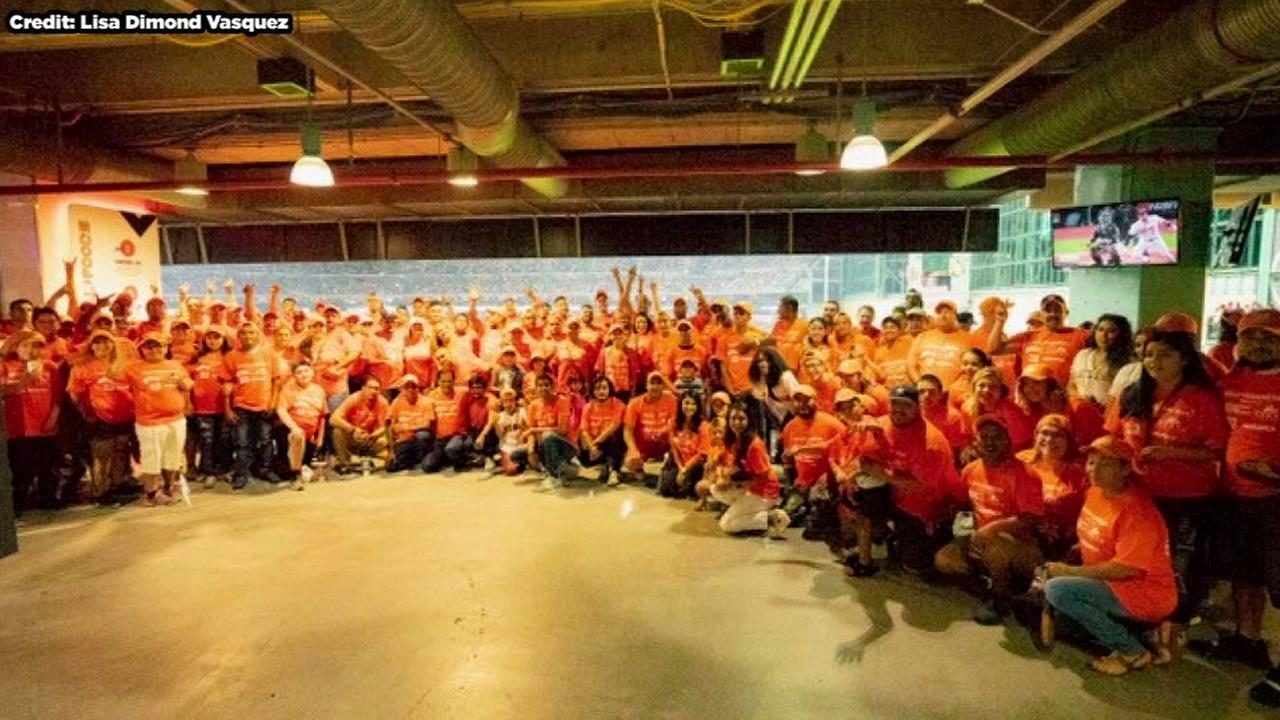 Hurricane Harvey heroes have night at Minute Maid Park