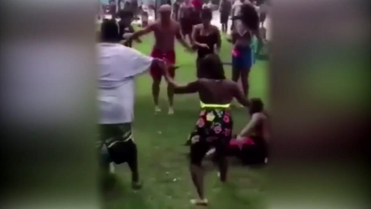 Brawl breaks out at waterpark