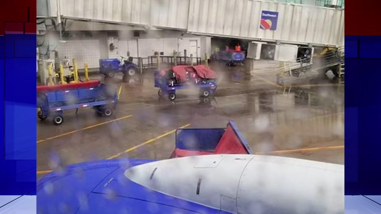 Southwest Airlines tells man they arent liable for luggage that was ruined after being left out during storm