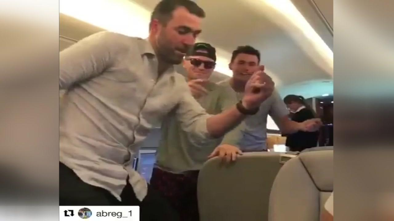 Astros players get in on the In My Feelings challenge