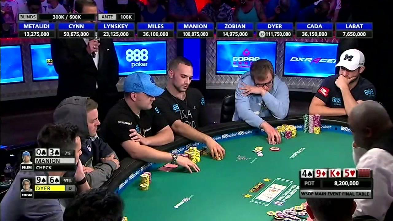 Its all over for a Houston man who made it to the World Series of Poker in Las Vegas.