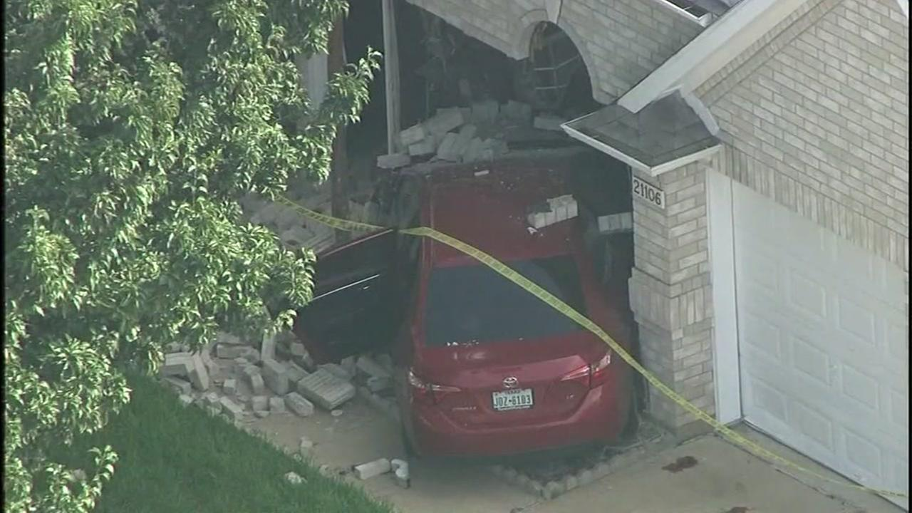 Car goes into home