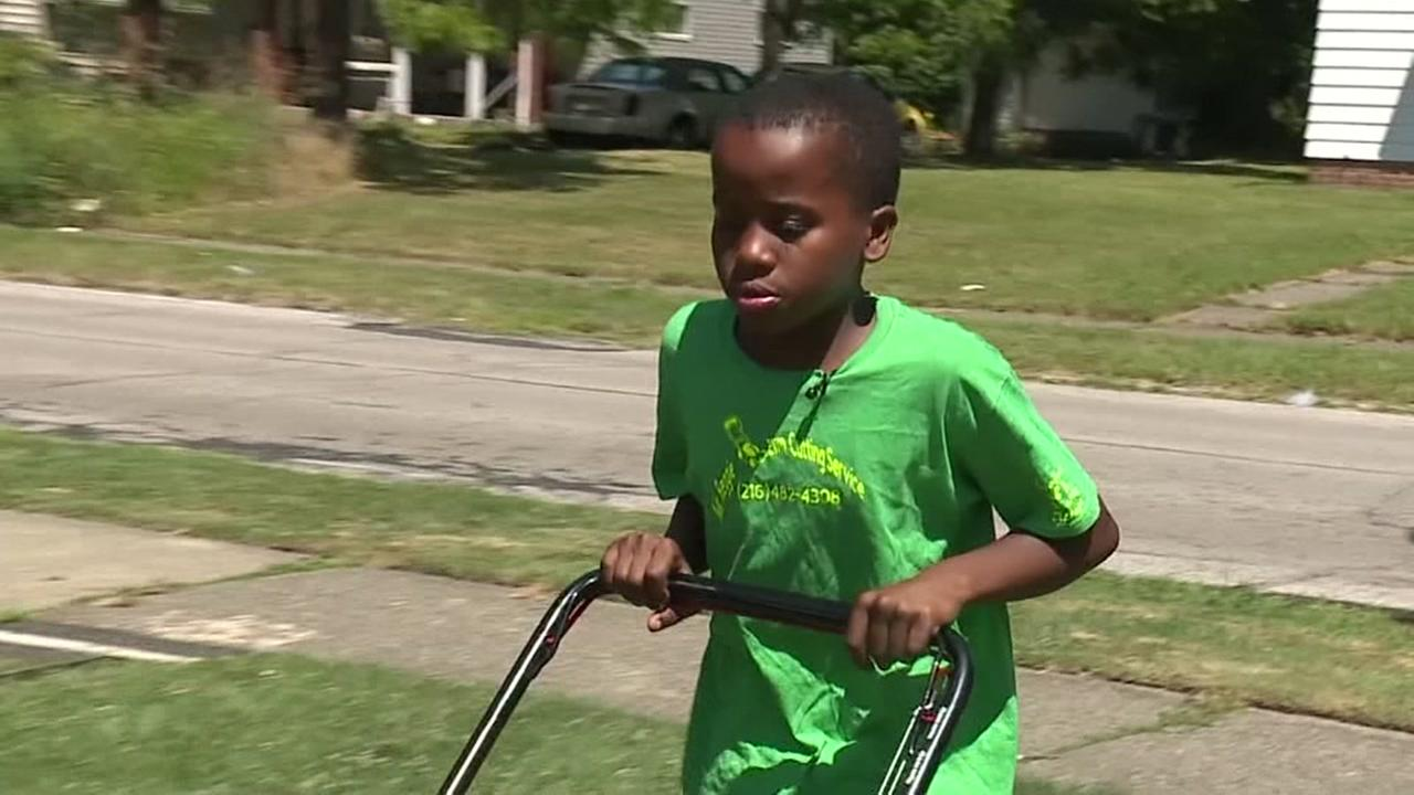 Kid reported to police for mowing lawn