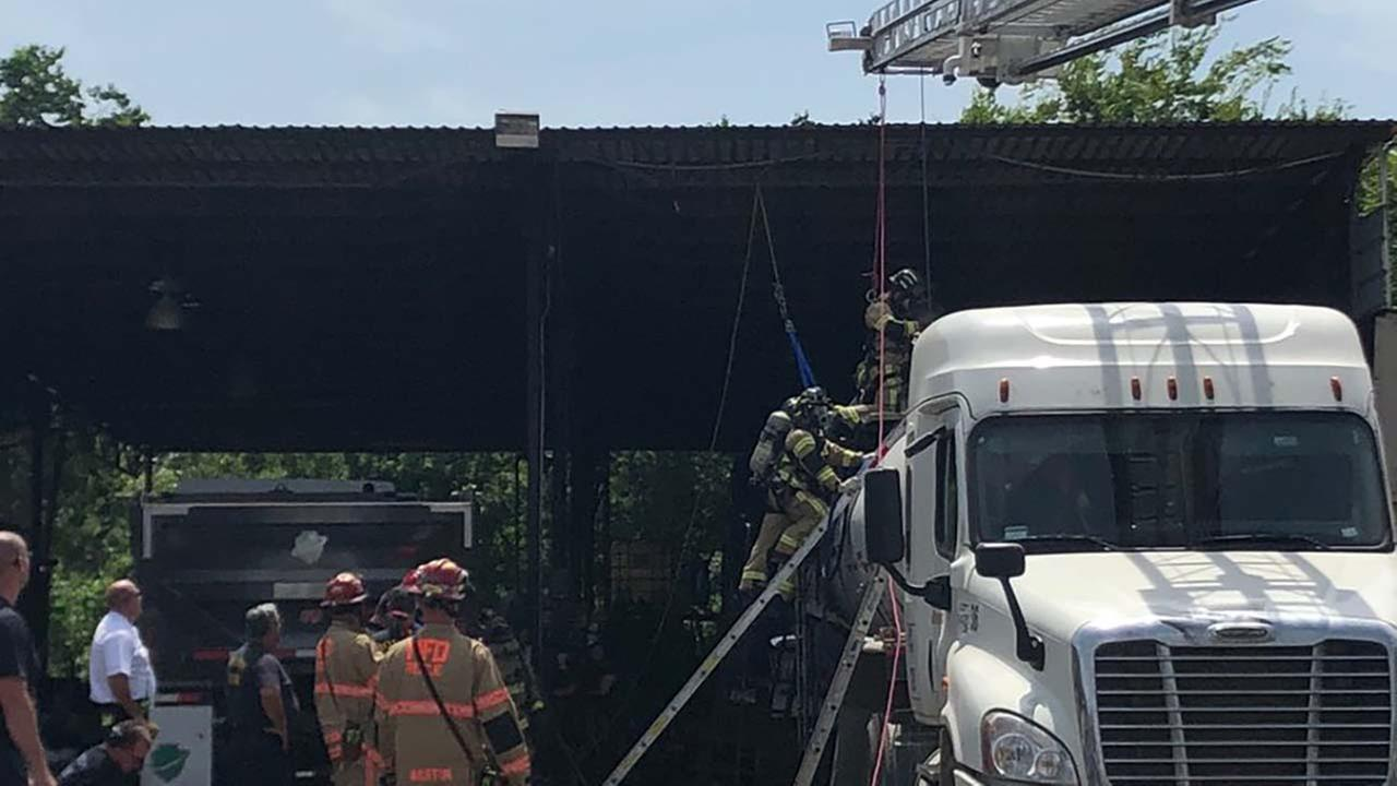 Tanker truck rescue