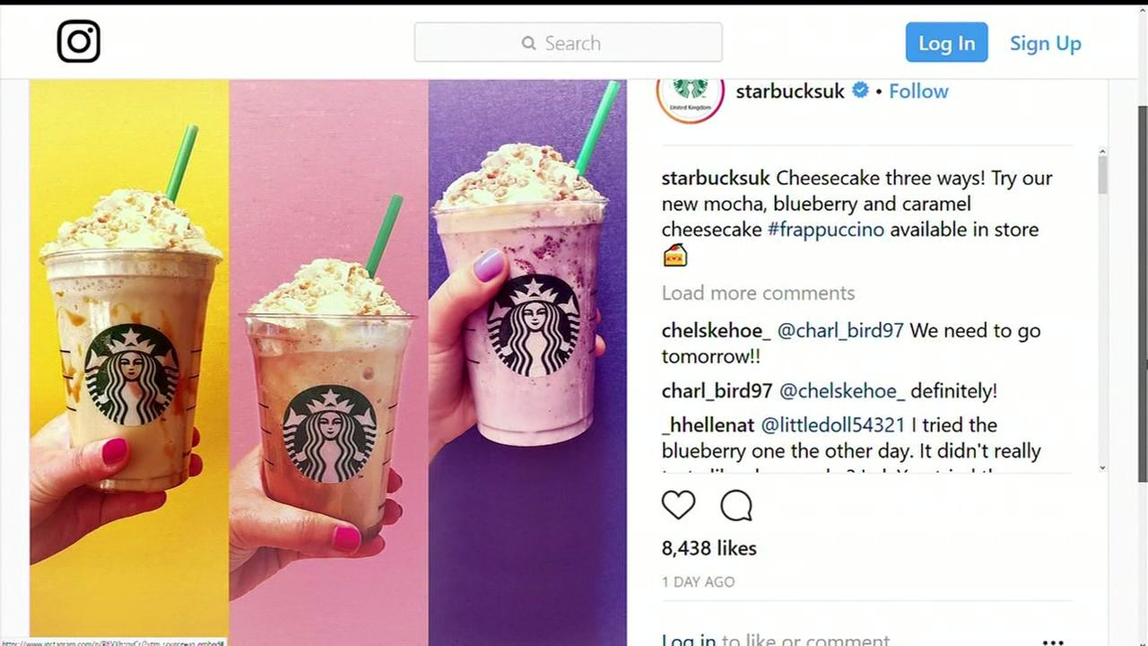 Starbucks introduces new cheesecake frappuccinos in the U.K.