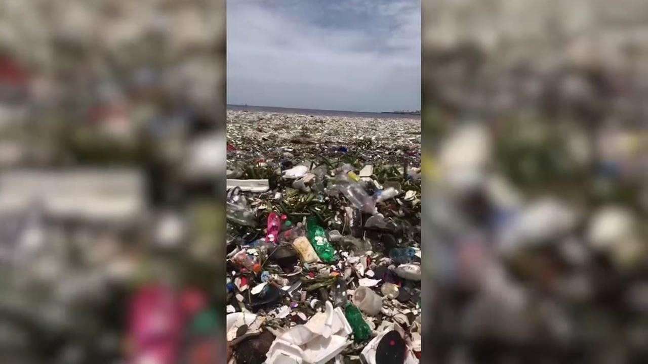 Dominican Republic beach trash