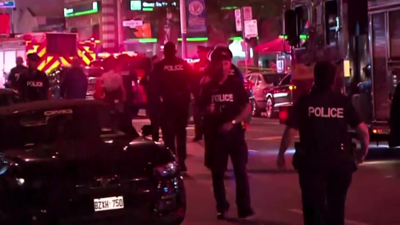 3 people killed, including gunman and 14 injured in Toronto after man fires into restaurants and cafes