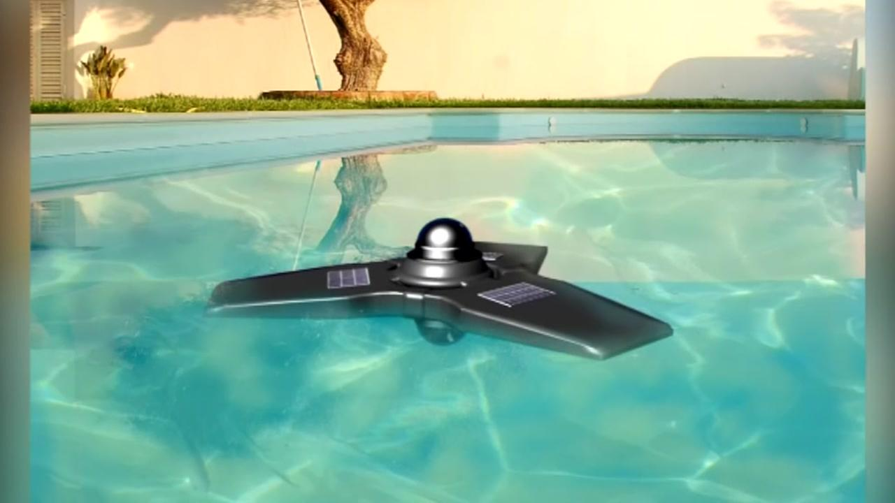 Dad invents drowning prevention drone for pools