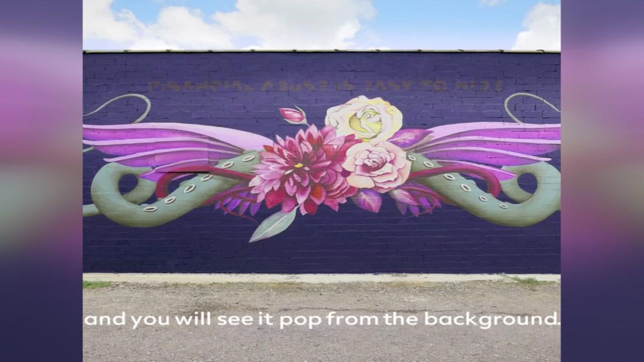 New Houston street mural campaigns against abuse