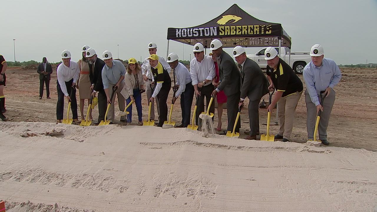 Houston Sabercats break ground on new arena