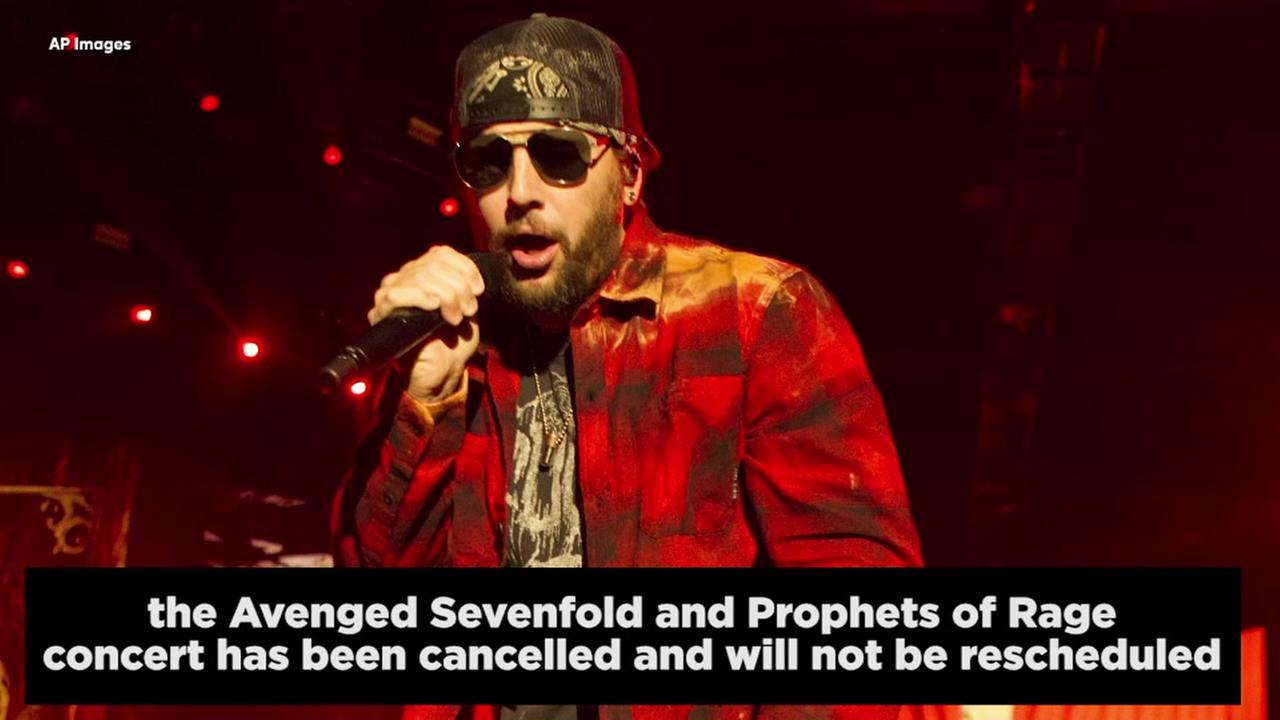 Avenged Sevenfold show canceled