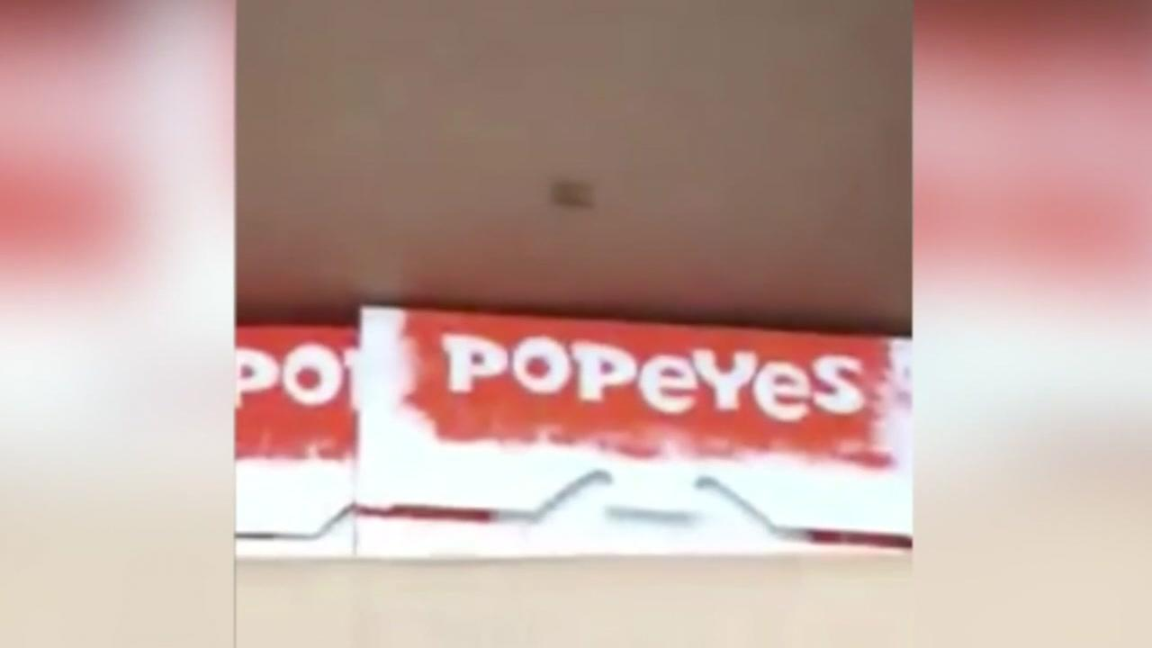 Roaches inside Popeyes location