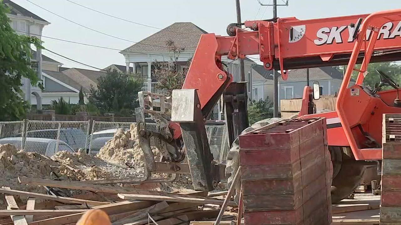 Construction worker run over