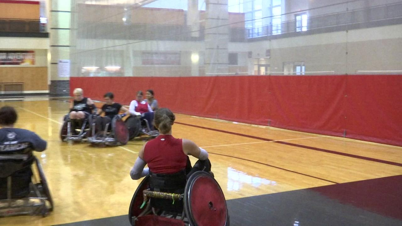 Univeristy of Houston hosts womens wheelchair rugby camp
