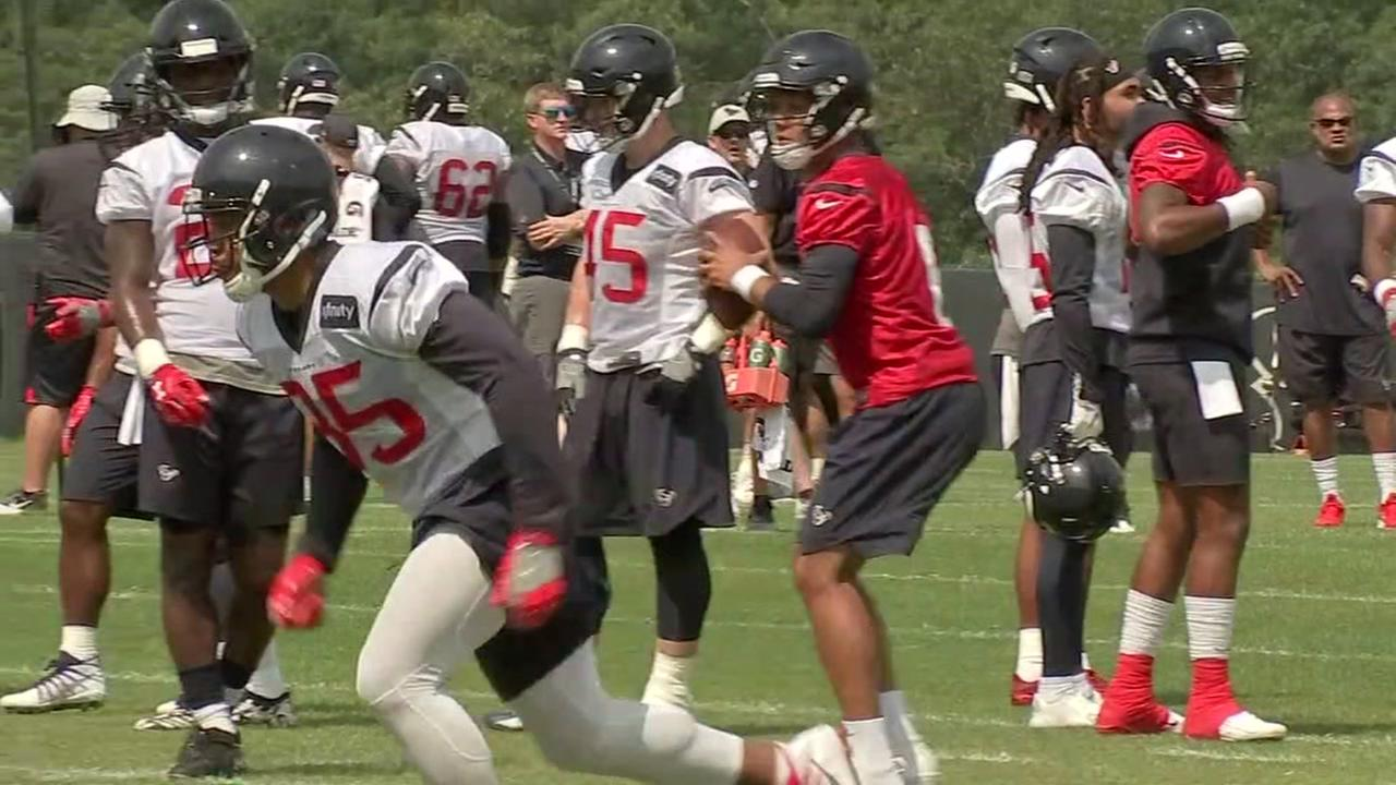 Texans continue working at training camp