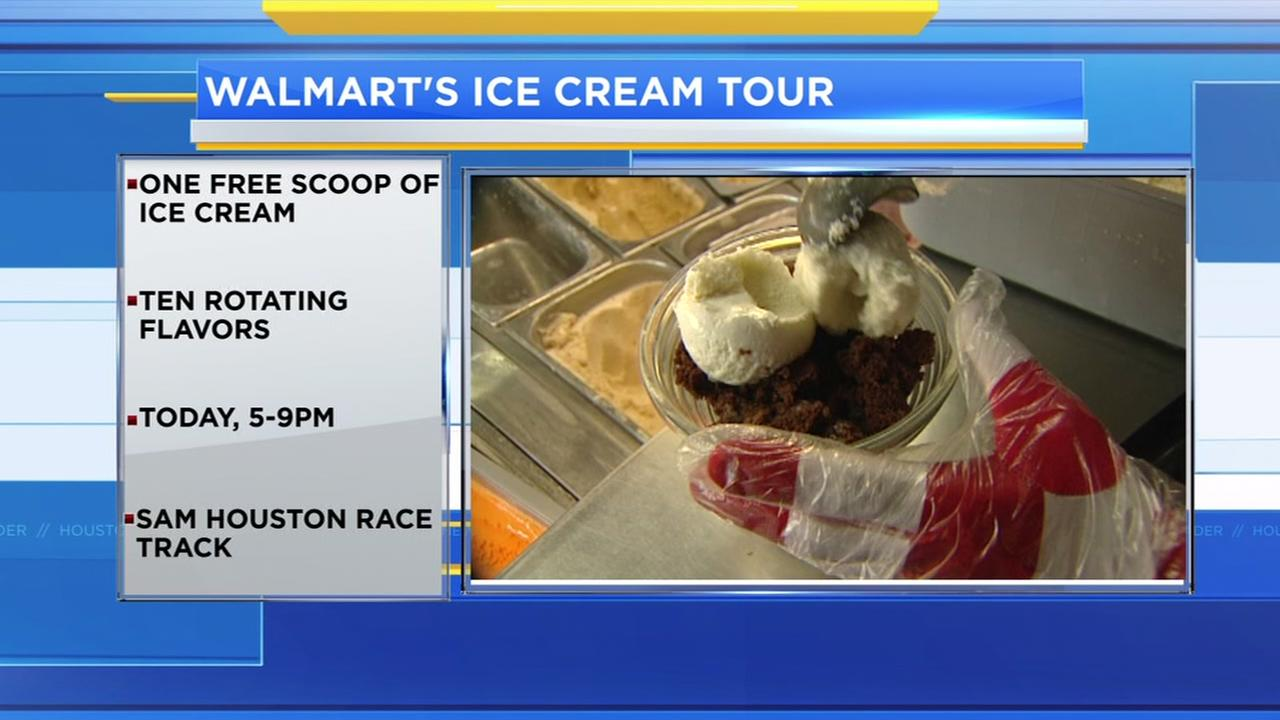 Walmart gives away free ice cream during week-long tour