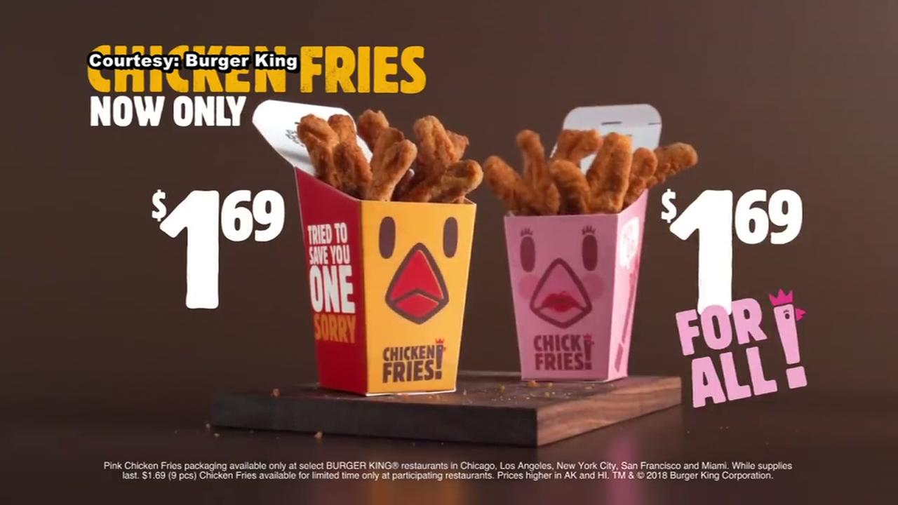 Burger King raises awareness about pink tax through new campaign in support of bill that opposes it
