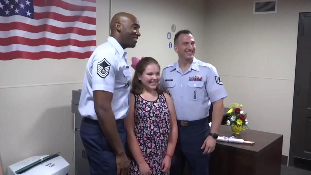 Girl is helping veterans one cup at a time