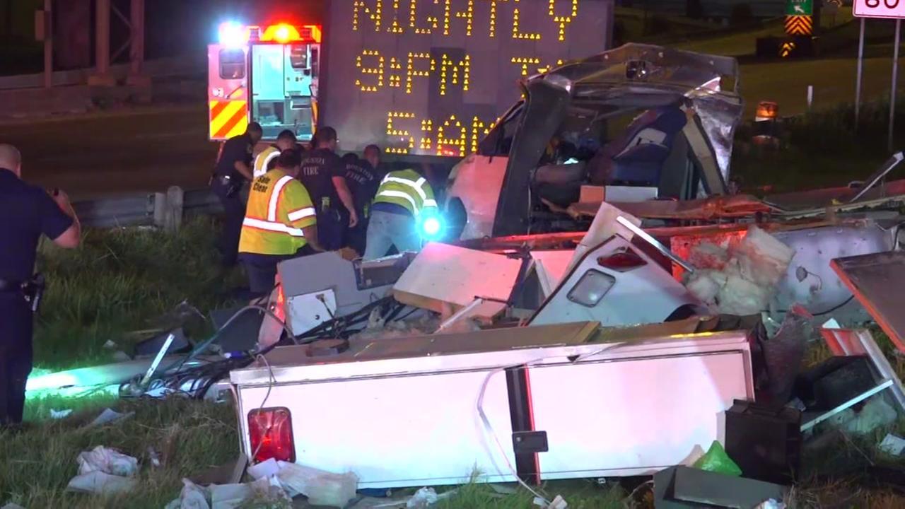 Stolen ambulance crashed on South Loop exit ramp