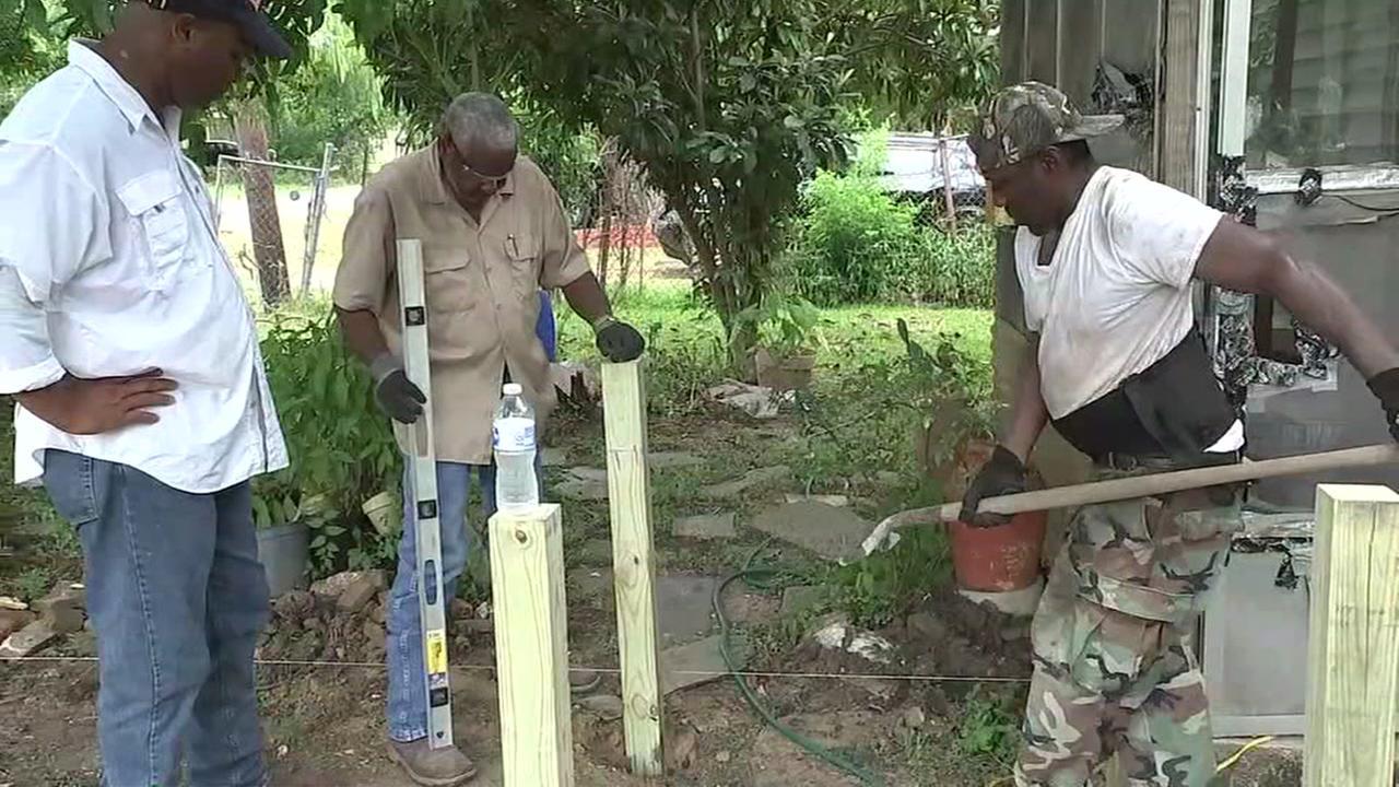 Community helps 91-year-old repair home