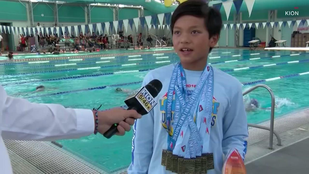 10-year-old breaks one of Michael Phelps records