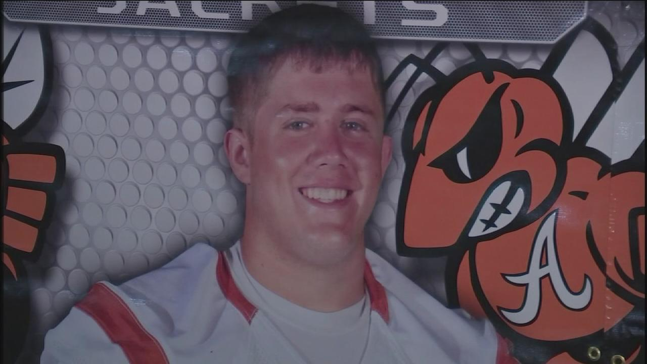 Alvin HS honors football player killed in wreck
