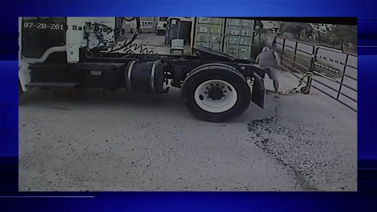 Big Rig theft caught on camera