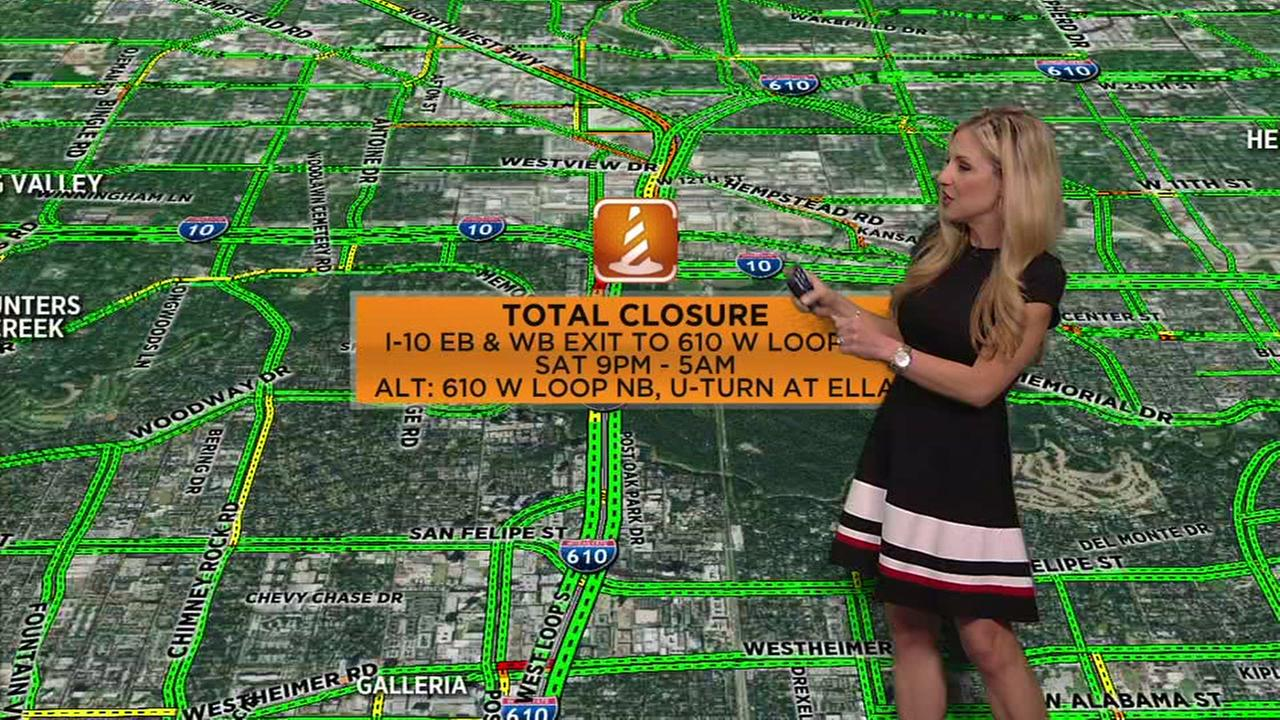 Plan ahead, closures expected on the Gulf Freeway and 610 this weekend