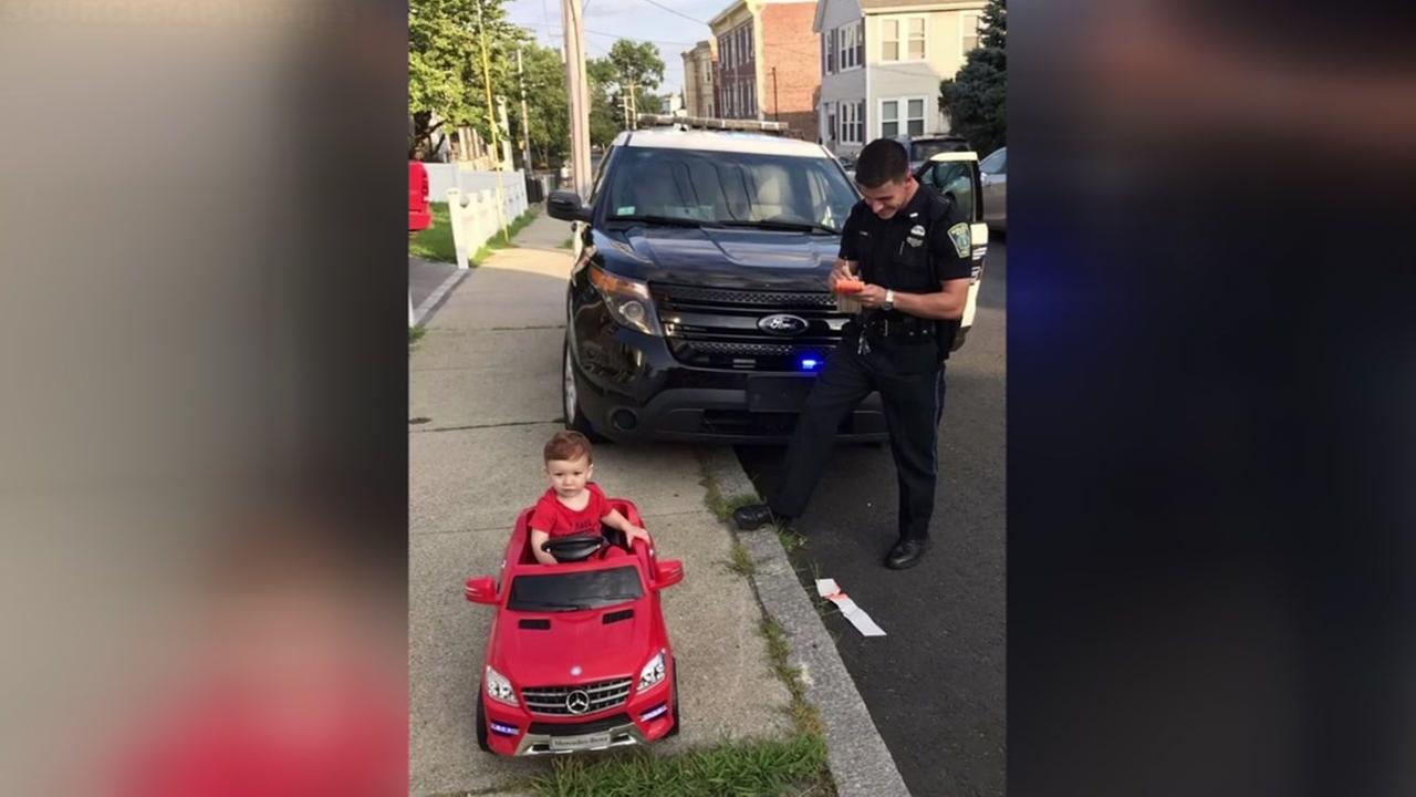 Toddler gets citation for driving without license