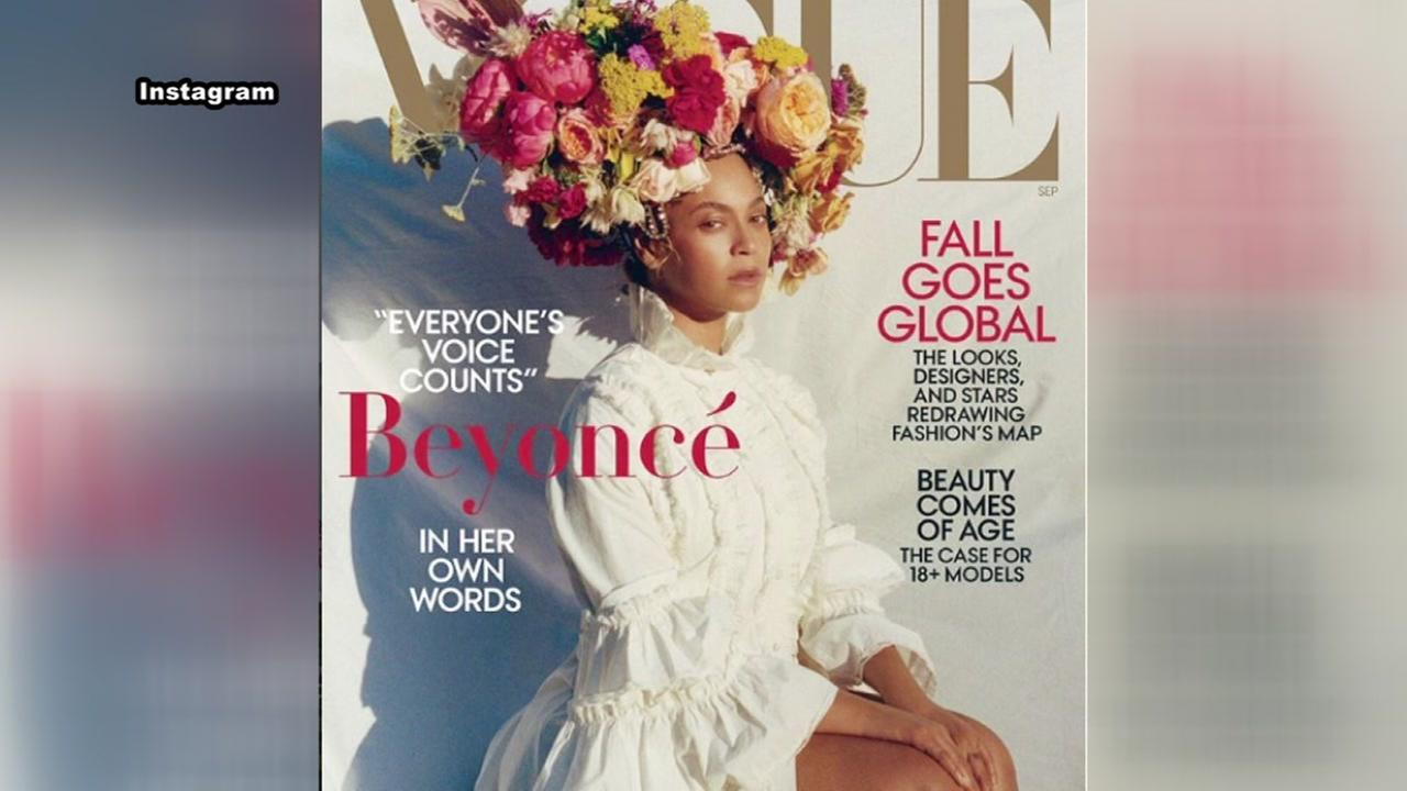 Beyonce appears on the cover of Vogue