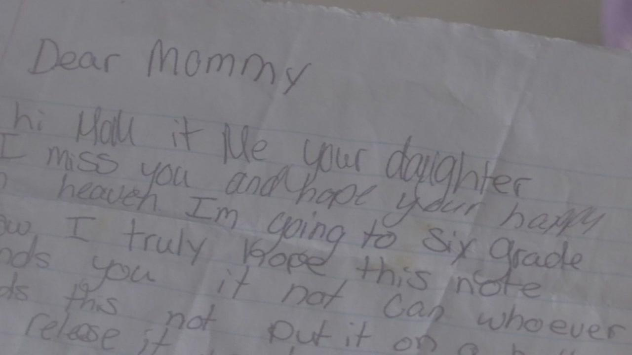 Alvin woman finds letter to Mommy