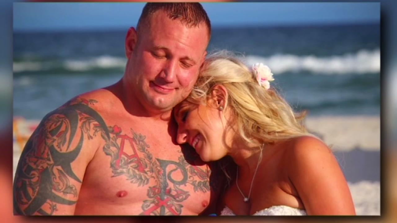 Groom rescues struggling swimmer moments after beach wedding