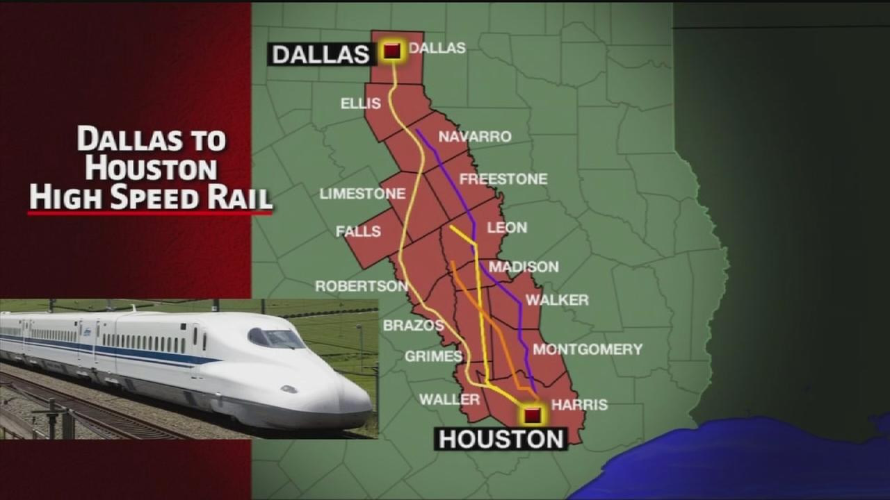 Residents battling Dallas-Houston bullet train project