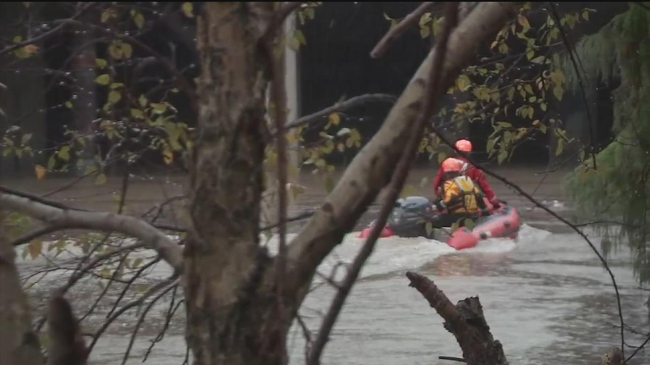 Couple rescued from floodwaters