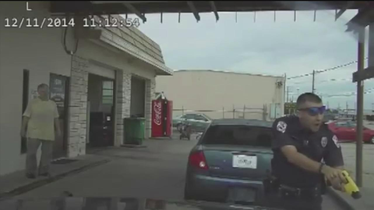 Officer caught on dash-cam using Taser during traffic stop fired