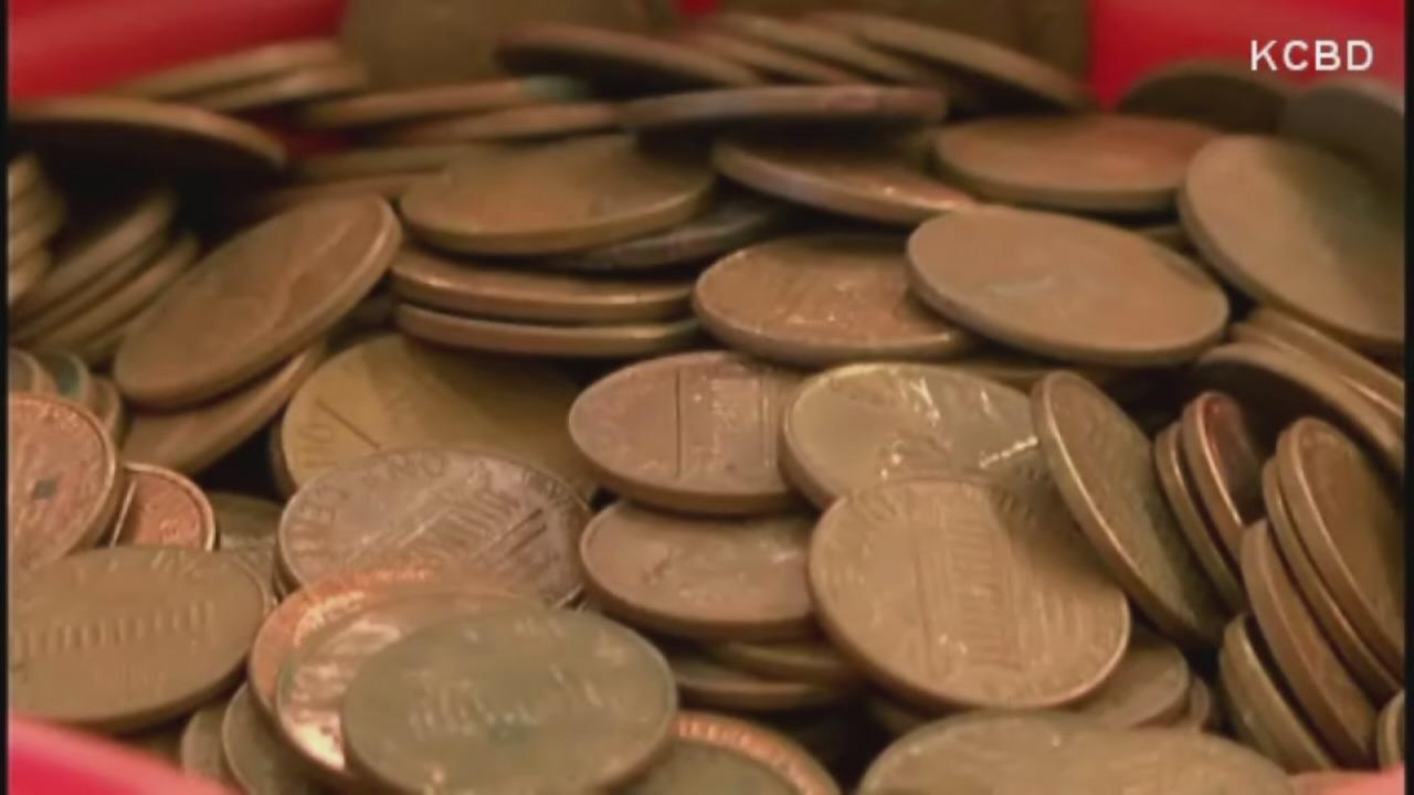 Man cashes in penny collection