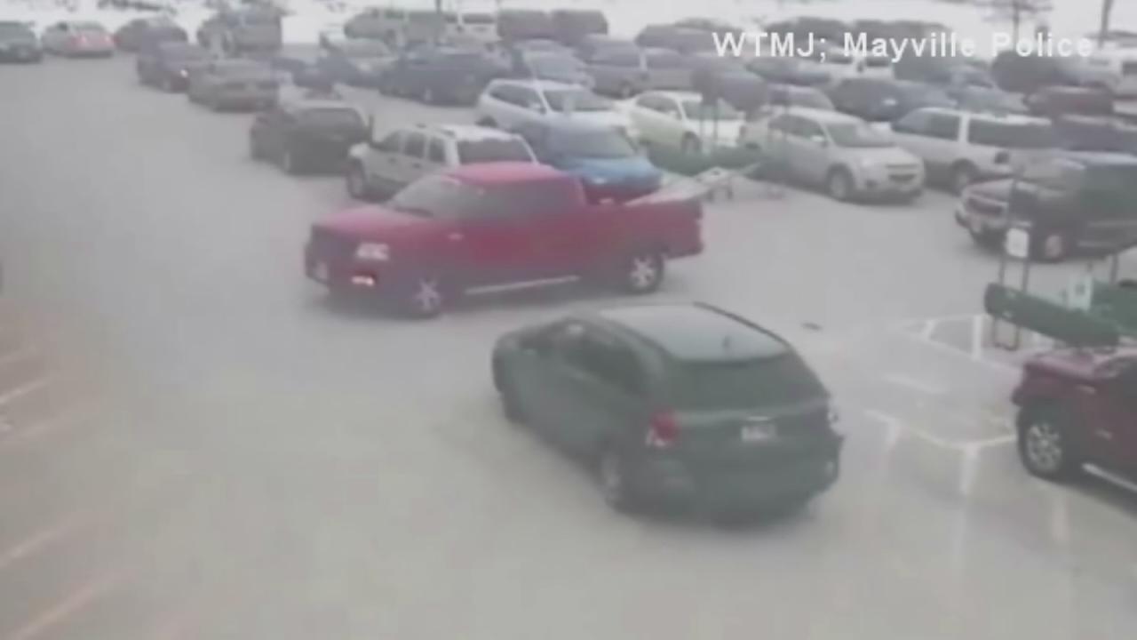 Elderly man hits nine cars